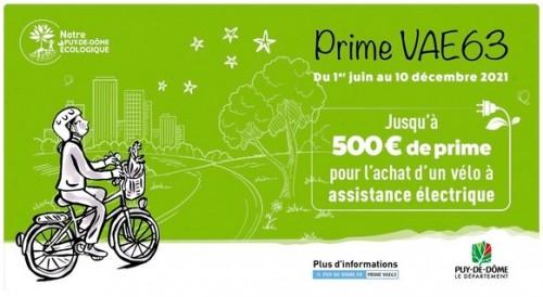 Prime achat VAE 63 Puy-de-Dôme