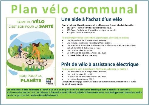 Plan vélo communal de Cébazat