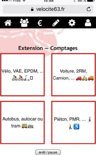 écran de comptage sur velocite63.fr