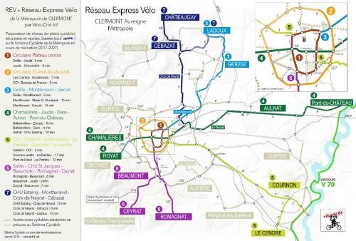 REV (Réseau Express Vélo) de Clermont