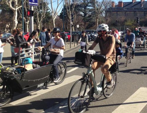 Vélorution lors de la Marche pour le Climat mars 2019 à Clermont
