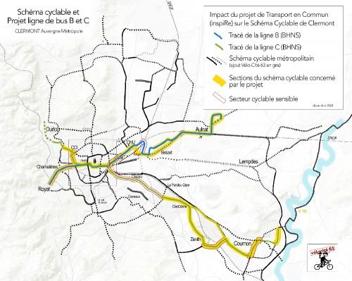 Projet inspiRe et Schéma Cyclable Clermont