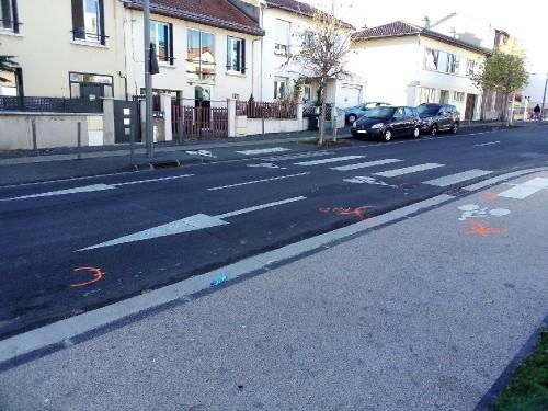 Rue Anatole France, lieu de l'accident du 13/11/2020