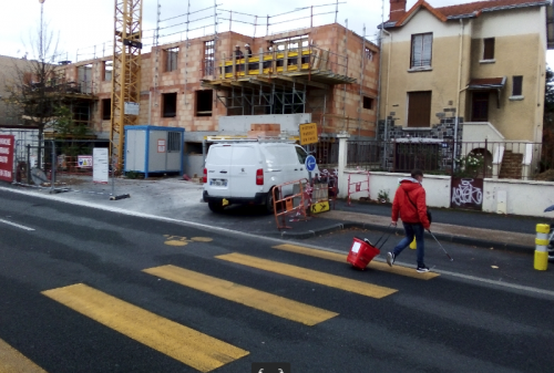 Travaux, 100 rue Anatole France, Clermont-Fd