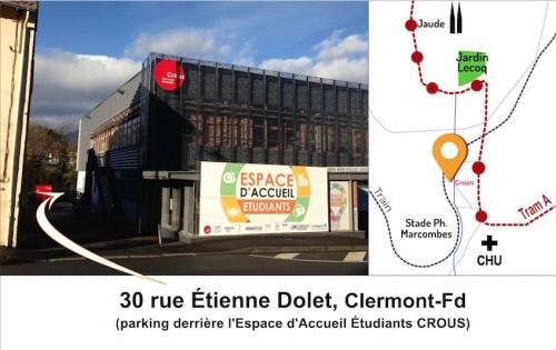 Rendez-vous de la vélo-école de Vélo-Cité 63, au 30 rue Étienne Dole à Clermont-Fd